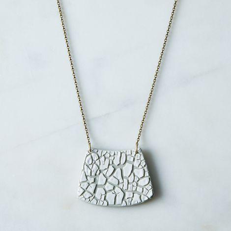 Crackled Porcelain Bead Necklace
