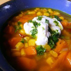 Spicy Smoky Sweet Potato Corn Chowder