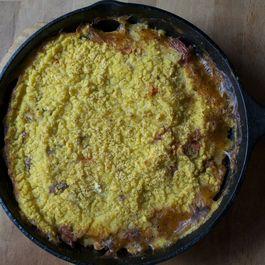 Polenta Veggie Bean Pot Pie