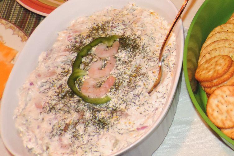Festive Creamy Shrimp Dip