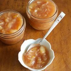 Honey-Sweetened White Peach Jam