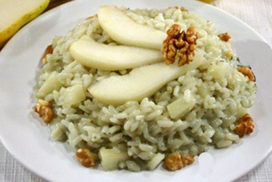 Gorgonzola and Pear Risotto with Walnuts - Risotto con Gorgonzola, Pere e Noci