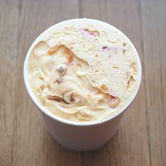 Dulce de Leche and Jam Ice Cream