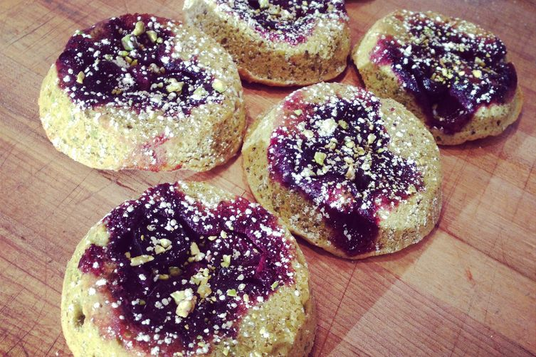 Summer Berry & Pistachio Financier