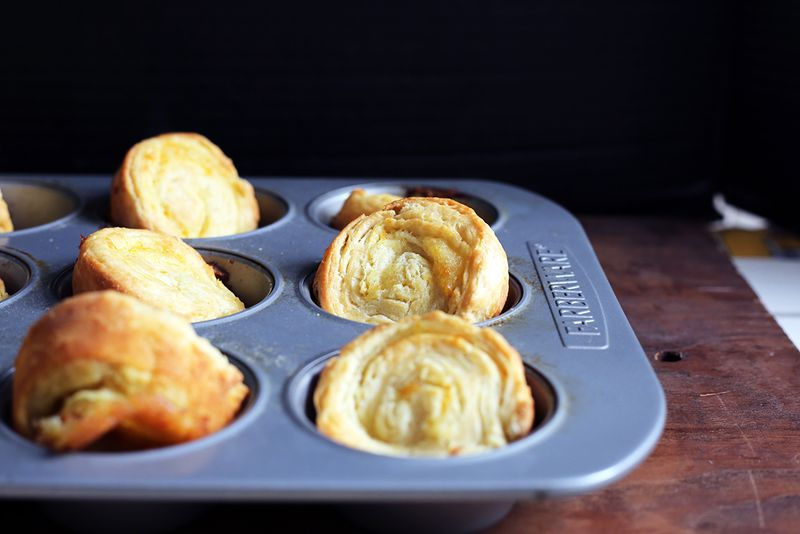But with the muffin tin, you get these flaky edges...