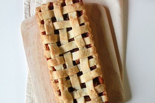 Maple apple lattice shortbread tart