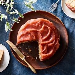 "Ginger Cake with Apple Butter ""Frosting"""
