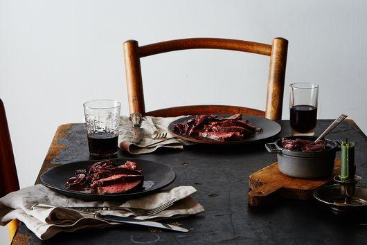 Mom's Garlic-Rubbed Roast Filet of Beef with Mushroom Sauce
