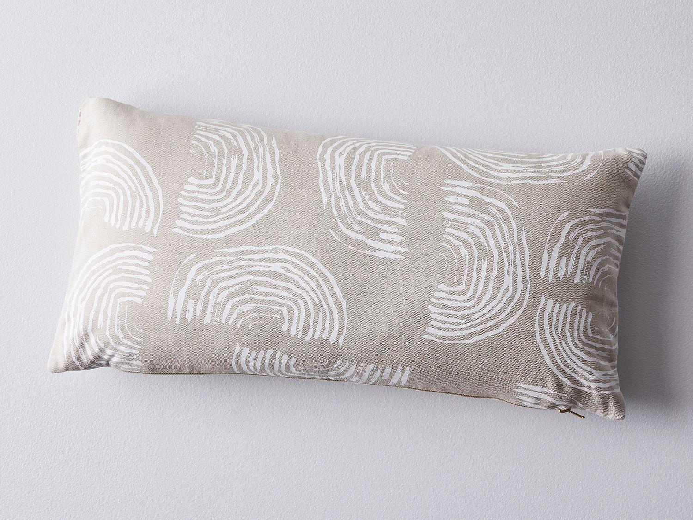 Hand Blocked Linen Lumbar Pillow On Food52