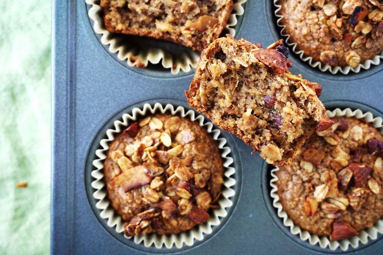 Cinnamon Tahini and Toasted Granola Muffins