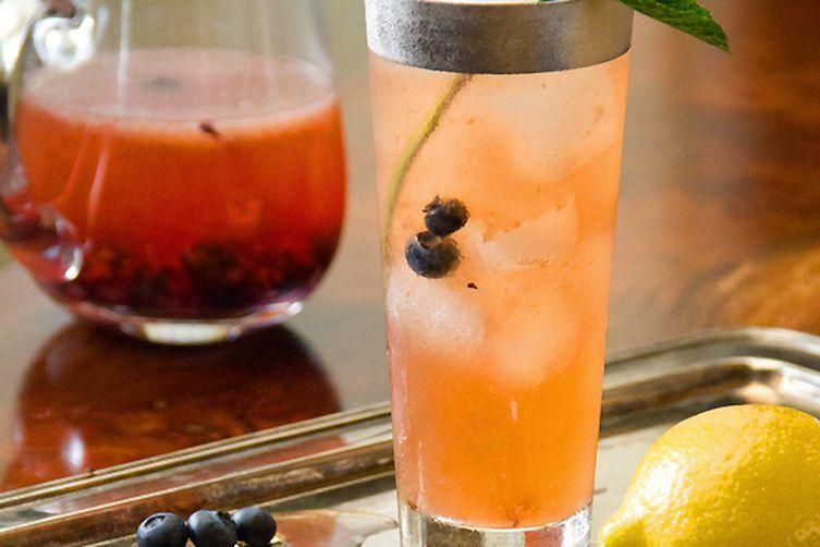 Tea Time Blueberry Bourbon Cocktail