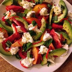Nectarine and Avocado Caprese