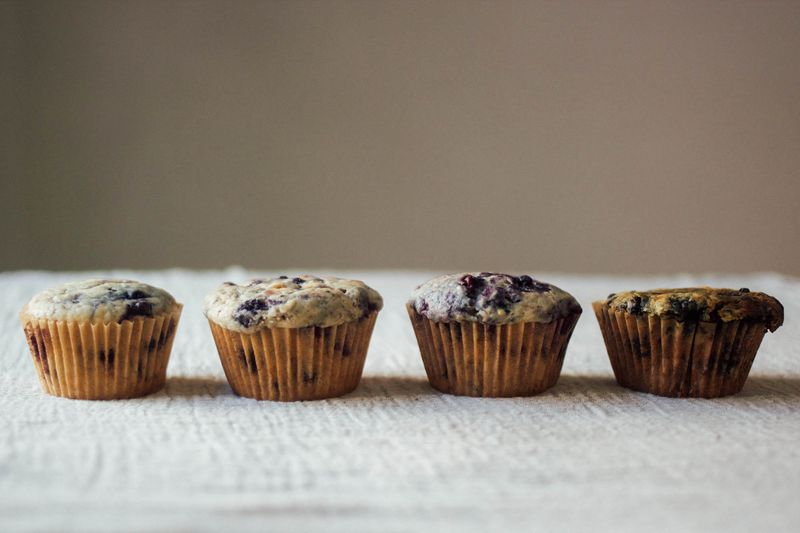 muffins in a row