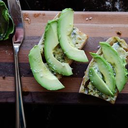 avocado toast with lemon... by Joyce Hackwell