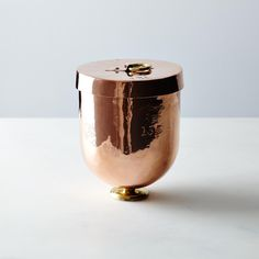 Vintage Copper English Large Ice Cream Bombe, Mid 19th Century