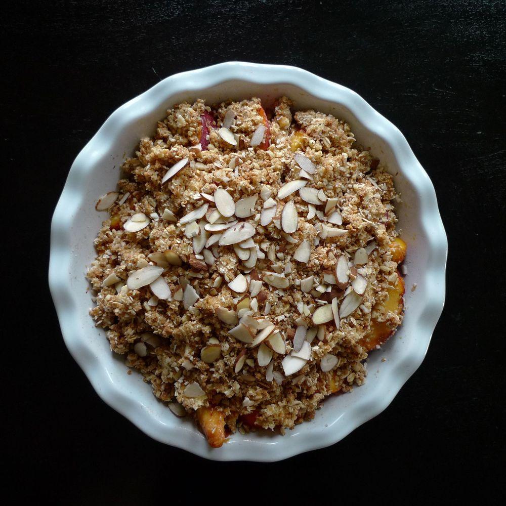 Amaretto Peach Crumble Recipe On Food52