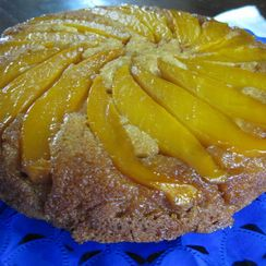 Buttermilk Mango Upside Down Cake