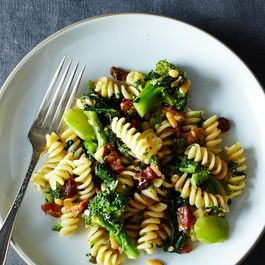 The Splendid Table's Pasta with Two Broccolis & Raisin-Pine Nut Sauce