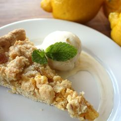 Lemon Curd Tart with Almond Crust