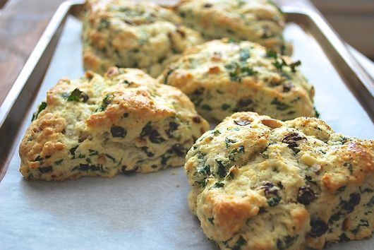 Cheesy Kale Scones