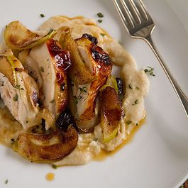 Honey-Glazed Chicken Breasts with Apple-Potato Purée