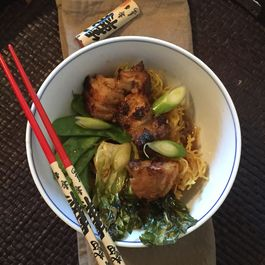 Crunchy Noodles With Pork Belly And Vegetables