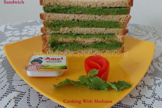 Pudina (Mint) Chutney Sandwich