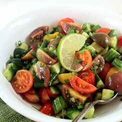 Persian Salad ~ An Easy, Refreshing Chopped Salad with a Twist of Lime