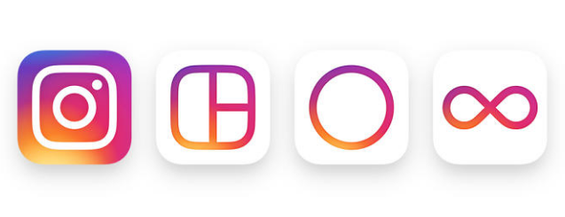 The new Instagram family of app icons.