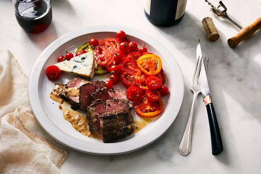 Mustard-Crusted Pepper Steak