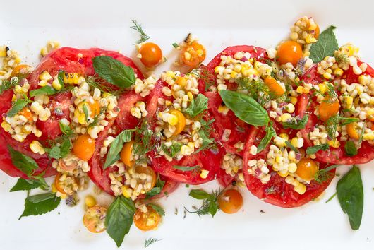 SUMMER CORN and DOUBLE TOMATO  SALAD