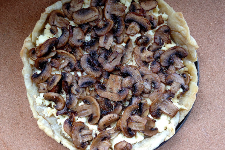 Truffle Mushroom Ricotta Tart