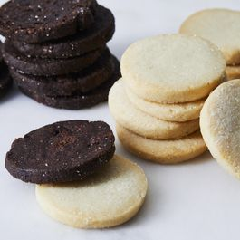 Vanilla Bean Shortbread and Chocolate Sable Cookie Duo