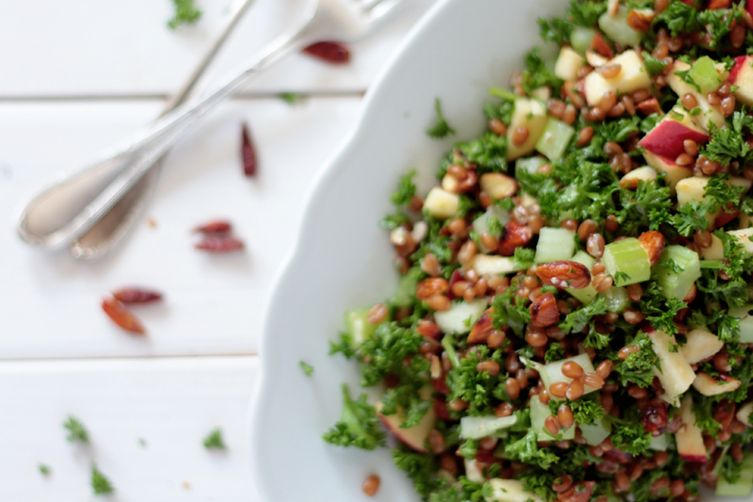 WHEAT BERRY, APPLE AND PARSLEY SALAD