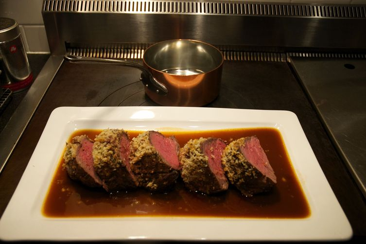 Mustard-Crusted Beef Tenderloin with Sauce Robert