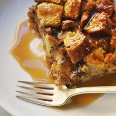 GINGERBREAD SPICED BREAD PUDDING WITH BOURBON SAUCE