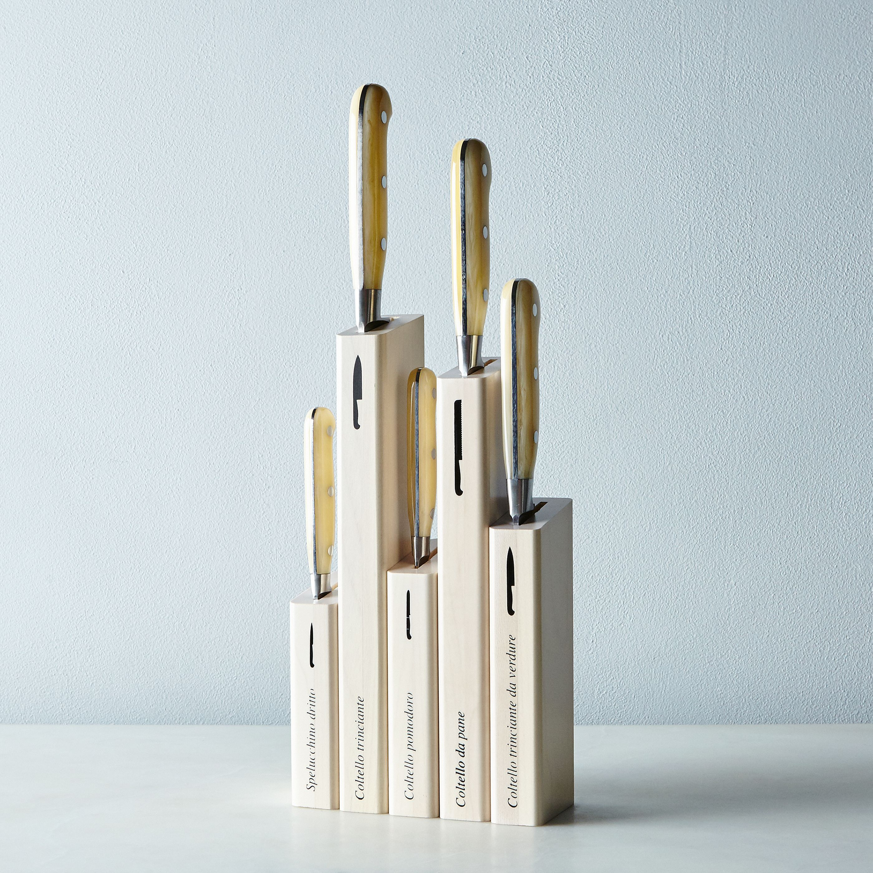 Berti White-Handled Italian Kitchen Knives on Food52