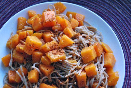 Gingered Butternut Squash Soba Noodles