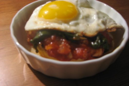 Green, Eggs, and Polenta