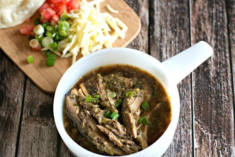 Easy Slow Cooker Tomatillo Pork