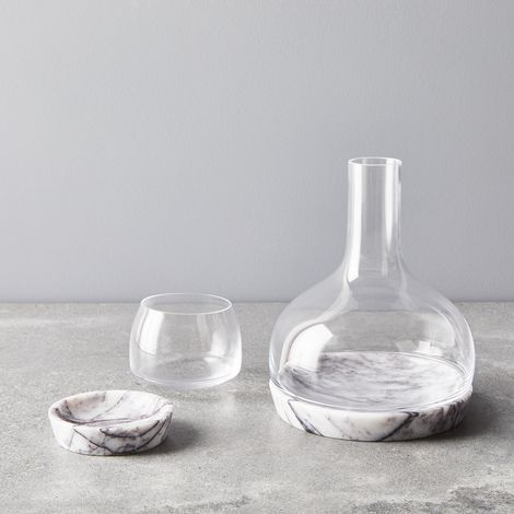 Stay Cool Tumbler & Carafe with Marble Base