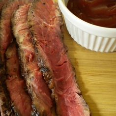 Grilled Flat Iron with a  Spicy Dipping Sauce