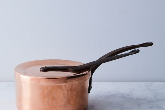 Vintage Copper French Saucepan, Late 19th Century