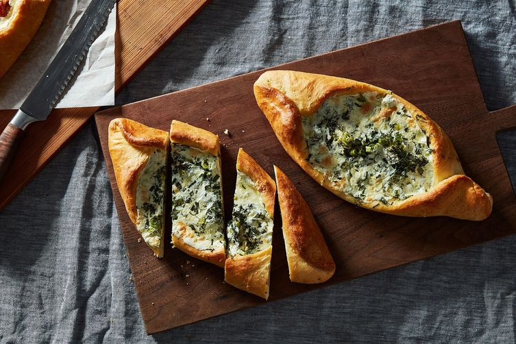 Green Khachapuri (Georgian Cheese Bread)