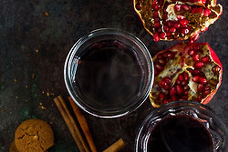 Honey-Pomegranate Mulled Wine
