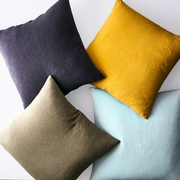 Stonewashed Linen Pillow Covers