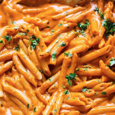 VEGAN PENNE WITH VODKA SAUCE