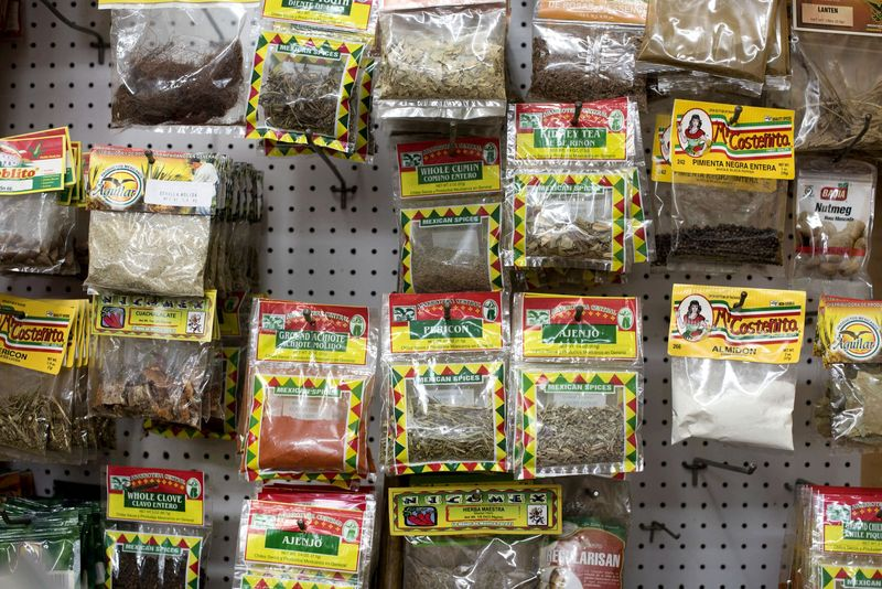 The dried chile selection at a bodega in Jackson Heights, Queens.