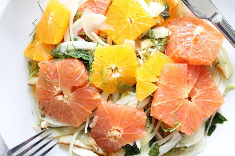 Citrus Salad with Roasted Fennel and Mint Recipe on Food52