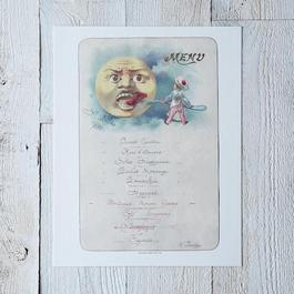 Vintage Menu Print: Cafe Anglais